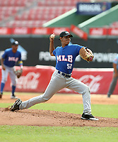 Wuilliam Hernandez participates in the MLB International Showcase at Estadio Quisqeya on February 22-23, 2017 in Santo Domingo, Dominican Republic.