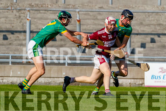 Gearoid Mahoney, Causeway in action against Colman Savage, Kilmoyley during the Kerry County Senior Hurling Championship Final match between Kilmoyley and Causeway at Austin Stack Park in Tralee
