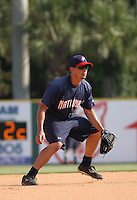 Potomac Nationals infielder Jose Lozada #2 taking ground balls during batting practice before a game vs. the Myrtle Beach Pelicans at BB&T Coastal Field in Myrtle Beach, SC, on June 16, 2010. The Nationals defeated the Pelicans 13-4. Photo By Robert Gurganus/Four Seam Images