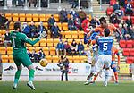 23.12.2018 St Johnstone v Rangers: Alfredo Morelos heads in the equaliser for Rangers