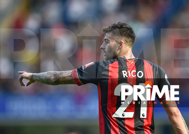 Diego Rico of Bournemouth during the Premier League match between Chelsea and Bournemouth at Stamford Bridge, London, England on 1 September 2018. Photo by Vince  Mignott / PRiME Media Images.