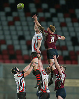 Tuesday 7th January 2020 | MMW Junior Cup Final<br /> <br /> Oliver Millar and James Carleton challenge for the ball  during the Millar McCall Wylie Junior Cup Final between Armagh 2s and Enniskillen at Kingspan Stadium, Ravenhill Park, Belfast, Northern Ireland. Photo by John Dickson / DICKSONDIGITAL