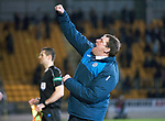 St Johnstone v Hearts…05.04.17     SPFL    McDiarmid Park<br />Tommy Wright punches the air at full time<br />Picture by Graeme Hart.<br />Copyright Perthshire Picture Agency<br />Tel: 01738 623350  Mobile: 07990 594431