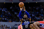 Wesley Matthews of Dallas Mavericks in action during the NBA China Games 2018 match between Dallas Mavericks and Philadelphia 76ers at Universiade Center on October 08 2018 in Shenzhen, China. Photo by Marcio Rodrigo Machado / Power Sport Images