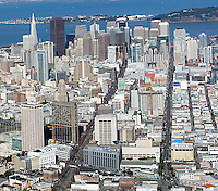 aerial photograph view down Mission Street San Francisco
