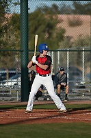 Adie Goodman (5) of Lamar School in Meridian, Mississippi during the Baseball Factory All-America Pre-Season Tournament, powered by Under Armour, on January 14, 2018 at Sloan Park Complex in Mesa, Arizona.  (Freek Bouw/Four Seam Images)