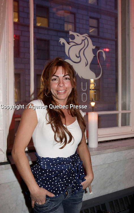 Montreal (Qc) CANADA - February 12, 2008 - <br /> Anne Casabonne, actress <br /> at the Rendez Vous du Cinema Quebecois,<br /> wine and cheese cocktail held at Place d'armes Hotel - Suite 711.<br /> photo : Pierre Roussel (c)  Images Distribution