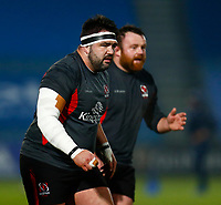 8th January 2021; RDS Arena, Dublin, Leinster, Ireland; Guinness Pro 14 Rugby, Leinster versus Ulster; Marty Moore of Ulster warms up prior to kickoff