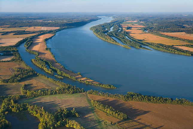 Farming along the Ohio River