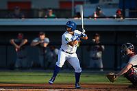 Jose Sanchez (6) of the Burlington Royals at bat against the Danville Braves at Burlington Athletic Stadium on August 12, 2017 in Burlington, North Carolina.  The Braves defeated the Royals 5-3.  (Brian Westerholt/Four Seam Images)