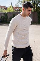 Spainsh Alvaro Morata arriving at the concentration of the spanish national football team in the city of football of Las Rozas in Madrid, Spain. November 08, 2016. (ALTERPHOTOS/Rodrigo Jimenez) ///NORTEPHOTO.COM