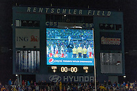 Pepsi presents Taylor Greenwood singing the national anthem during an international friendly at Rentschler Field in East Hartford, CT, on October 23, 2012.