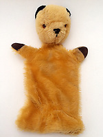 "BNPS.co.uk (01202 558833)<br /> Pic: Hansons/BNPS<br /> <br /> Pictured: The Original Sooty Puppet owned by Harry Corbett<br /> <br /> An iconic old Sooty TV puppet which Harry Corbett gave to a friend has emerged for sale for £1,200.<br /> <br /> The children's show inventor Harry Corbett gifted it to biology teacher Paul Mouncey, from Comrie, Perthshire, Scotland, in the mid-1970s.<br /> <br /> His daughter Tina Stewart, a veterinary receptionist from Dunblane, is now selling the hand puppet with Hanson's Auctioneers, of Etwall, Derbys.<br /> <br /> Mrs Stewart, a veterinary receptionist from Dunblane, Scotland, said: ""We took Sooty along with us and after the show met Richard - who immediately new our puppet was an original."