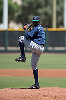 Seattle Mariners starting pitcher Ivan Fortunato (6) delivers a pitch during an Extended Spring Training game against the San Francisco Giants Orange at the San Francisco Giants Training Complex on May 28, 2018 in Scottsdale, Arizona. (Zachary Lucy/Four Seam Images)