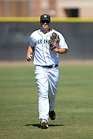 Seattle Mariners outfielder Lachlan Fontaine (9) during an Instructional League game against the Milwaukee Brewers on October 4, 2014 at Peoria Stadium Training Complex in Peoria, Arizona.  (Mike Janes/Four Seam Images)