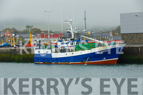 The French fishing boat Yannick which is detained in Dingle for breaching fishing rules