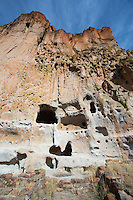 Cave dwellings at Bandelier National Monument in New Mexico