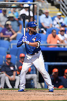 Toronto Blue Jays outfielder Kevin Pillar (11) during a Spring Training game against the Houston Astros on March 9, 2015 at Florida Auto Exchange Stadium in Dunedin, Florida.  Houston defeated Toronto 1-0.  (Mike Janes/Four Seam Images)