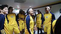 BERKELEY, CA - November 26, 2016: Cal Bears Women's Basketball team vs. the University of San Francisco Dons at Haas Pavilion. Final score, Cal Bears 75, University of San Francisco Dons 52.