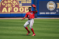 Washington Nationals outfielder Victor Robles (16) catches a fly ball during a Major League Spring Training game against the New York Mets on March 18, 2021 at Clover Park in St. Lucie, Florida.  (Mike Janes/Four Seam Images)