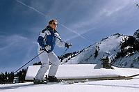 Europe/France/Rhône-Alpes/74/Haute-Savoie/La Chapelle-d'Abondance: Ski alpin au chalet du Perthuis 1700 m dans le Massif du Mont de Grange [Non destiné à un usage publicitaire - Not intended for an advertising use]