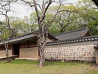 im  konfuzianischen Jongmyo Schrein, Seoul , Südkorea, Asien, UNESCO-Weltkulturerbe<br /> inside confucian Jongmyo shrine,  Seoul, South Korea, Asia, UNESCO world-heritage