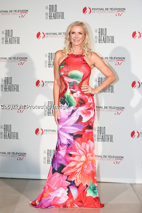 Monte-Carlo, Monaco, 18/06/2017 - 30th Anniversary of 'The Bold and the Beautiful' party Arrival Photocall at the Monte-Carlo Bay, Monaco, during the 57th Monte-Carlo Television Festival. Katherine Kelly Lang. # 30EME ANNIVERSAIRE DE 'AMOUR, GLOIRE ET BEAUTE'