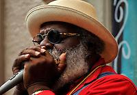 Blues man, New Orleans.