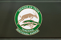 Tanzania.  Tanzania National Park Emblem, Serengeti National Park.