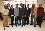 Ray Anthony Thomas, Michael Potts, Keith Randolph Smith, Brandon Dirden, John Douglas Thompson, Carra Patterson, Andre Holland, Harvy Blanks, and Anthony Chisholm attends the the cast photo call for the MTC production of 'Jitney' at the MTC Rehearsal Studios on November 29, 2016 in New York City