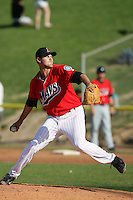April 18, 2010: Blake Nation of the High Desert Mavericks during game against the Lake Elsinore Storm at Mavericks Stadium in Adelanto,CA.  Photo by Larry Goren/Four Seam Images