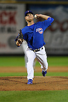 Eric Jokisch #24 of the Iowa Cubs throws against the New Orleans Zephyrs at Principal Park on July  24, 2014 in Des Moines, Iowa. The Cubs won 11-2.   (Dennis Hubbard/Four Seam Images)