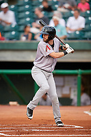 Jackson Generals second baseman Kevin Medrano (6) at bat during a game against the Chattanooga Lookouts on May 9, 2018 at AT&T Field in Chattanooga, Tennessee.  Chattanooga defeated Jackson 4-2.  (Mike Janes/Four Seam Images)