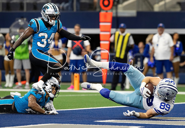 Photography of the Carolina Panthers v. The Dallas Cowboys, during their Sunday afternoon NFL game at AT&T Stadium in Arlington, Texas.<br /> <br /> Charlotte photographer - Patrick SchneiderPhoto.com