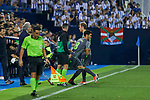 Real Sociedad's Mikel Merino (l) and David Zurutuza (r) during La Liga match. August 24, 2018. (ALTERPHOTOS/A. Perez Meca)