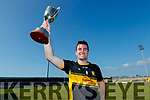 Mike Milner Captain, Dr. Crokes after the Kerry County Intermediate Hurling Championship Final match between Dr Crokes and Tralee Parnell's at Austin Stack Park in Tralee
