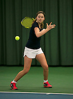 Rotterdam, The Netherlands, 15.03.2014. NOJK 14 and 18 years ,National Indoor Juniors Championships of 2014, Noesjka Brink (NED)<br /> Photo:Tennisimages/Henk Koster