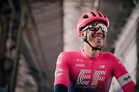 Sep Vanmarcke (BEL/EF Education First before the race start in Ghent<br /> <br /> 74th Omloop Het Nieuwsblad 2019 <br /> Gent to Ninove (BEL): 200km<br /> <br /> ©kramon