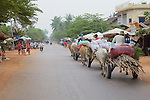 Ox Carts Carrying Goods