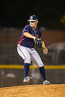 Rome Braves relief pitcher A.J. Minter (51) in action against the Hickory Crawdads at L.P. Frans Stadium on May 12, 2016 in Hickory, North Carolina.  The Braves defeated the Crawdads 3-0.  (Brian Westerholt/Four Seam Images)