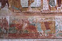 Europe/France/Poitou-Charentes/86/Vienne/Saint-Savin: Eglise romane de l'Abbaye Saint Savin sur Gartempe, fresques de la nef - Joseph vendu par ses frères