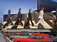Beatles Abbey Road Billboard, Sunset Strip, 1969