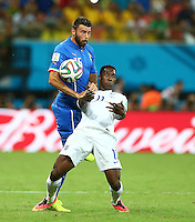 Andrea Barzagli of Italy and Daniel Welbeck of England in action