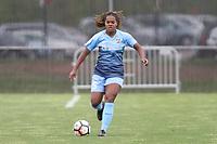 Piscataway, NJ - Sunday April 30, 2017: Kayla Mills during a regular season National Women's Soccer League (NWSL) match between Sky Blue FC and FC Kansas City at Yurcak Field.