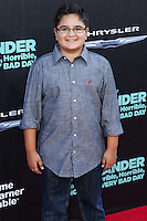 HOLLYWOOD, LOS ANGELES, CA, USA - OCTOBER 06: Jacob Guenther arrives at the World Premiere Of Disney's 'Alexander And The Terrible, Horrible, No Good, Very Bad Day' held at the El Capitan Theatre on October 6, 2014 in Hollywood, Los Angeles, California, United States. (Photo by Xavier Collin/Celebrity Monitor)
