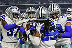 Dallas Cowboys defensive tackle Ricky Walker (68), Dallas Cowboys defensive back Donovan Wilson (37) and Dallas Cowboys cornerback Donovan Olumba (32) in action during the pre-season game between the Tampa Bay Buccaneers and the Dallas Cowboys at the AT & T Stadium in Arlington, Texas.