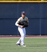 Dominic Johnson takes part in the 2019 Under Armour Pre-Season All-America Tournament at the Chicago Cubs and Oakland Athletics training complexes on January 19-20, 2019 in Mesa, Arizona (Bill Mitchell)