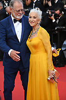"""CANNES, FRANCE. July 6, 2021: Helen Mirren & Taylor Hackford at the premiere of """"Annette"""" at the gala opening of the 74th Festival de Cannes.<br /> Picture: Paul Smith / Featureflash"""