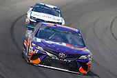 #11: Denny Hamlin, Joe Gibbs Racing, Toyota Camry FedEx Office and #42: Kyle Larson, Chip Ganassi Racing, Chevrolet Camaro DC Solar