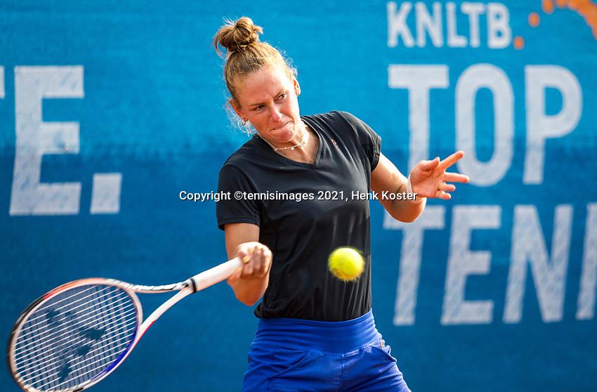 Amstelveen, Netherlands, 7 Juli, 2021, National Tennis Center, NTC, Amstelveen Womans Open, Stephanie Judith Visscher (NED)<br /> Photo: Henk Koster/tennisimages.com
